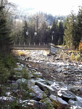 This is Fitzsimmons Creek, just behind The Gables. Look above the bridge and you see the Excalibur Gondola, which goes from Whistler Village up Blackcomb Mountain. Just behind the gondola are the lower slopes of Whistler Mountain. But wait till you see the alpine!