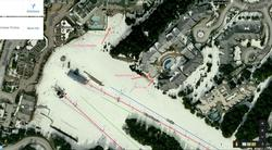 Aspens position on Piste with surrounding facilities