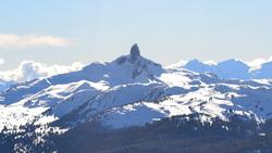Black Tusk from Whistler mountain peak