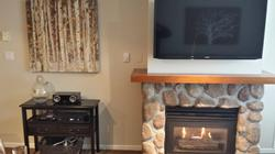 Entertainment area, with cozy gas fireplace