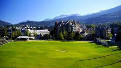 View of Whistler Golf Courses Driving Range. Not a view from the window.