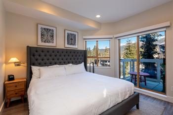Master bedroom with great views and full ensuite bathroom