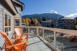 1 of 2 private balconies overlooking the Village plus the Whistler and Blackcomb Mountains!
