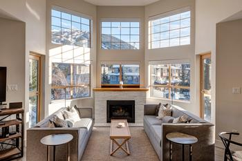 Open living space with incredible mountain views and 2 private balconies. We are on the top floor perched over Whistler Village. Everything you need at your doorstep of this newly renovated deluxe property.