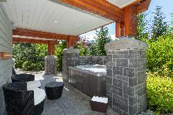 Private Hot tub area with private setting.