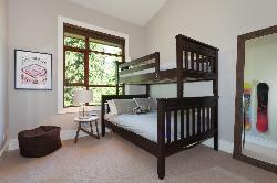 Bedroom #3: bunk bed consisting of a double and single bed