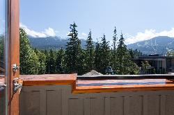 Private balcony off master bedroom view. Great mountain views.