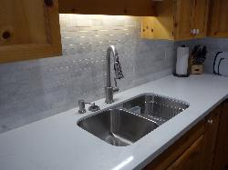 Our new Quartz kitchen counter and backsplash