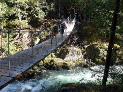 Suspension Bridge to Train Wreck