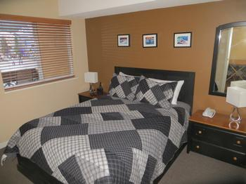 Master bedroom with new queen mattress!