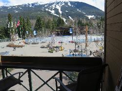 Views of Blackcomb Mountain and the Olympic Plaza amphitheatre!