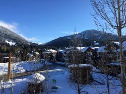 Unbeatable winter views of Whistler Mountain from the balcony!