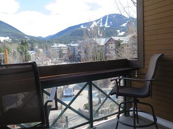 Our balcony views of Whistler and Blackcomb Mountains!
