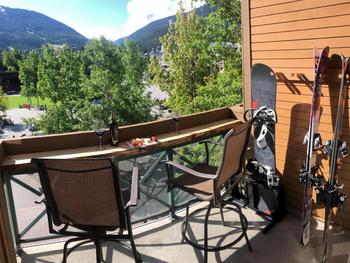 Our balcony views of both Whistler and Blackcomb Mountains!
