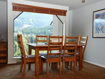 Dining Room - seats six people with fabulous view of Blackcomb mountain.
