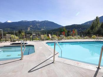 pool and hot tub heated all year round with great views of the mountians