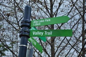 one of the many valley trail signs