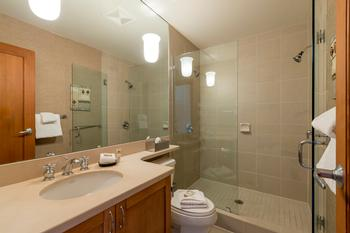 Ensuite master bathroom with walk in shower