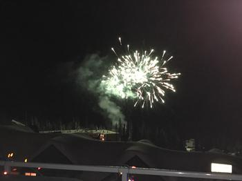 On saturday nights, you can enjoy Big White's fireworks display from the living room or the private hot tub