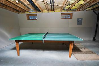 Basement with Ping-Pong Table
