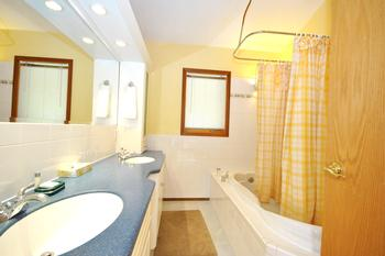 Master Bedroom ensuite bath/shower room with double sinks