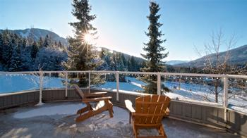 Enjoy ski apres on the huge deck while you watch the wizard chair and skiers