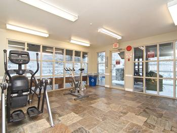 The indoor gym and fitness room