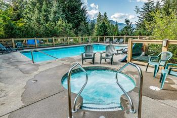 Pool open in summer months only. Hot tub open all year.
