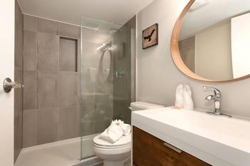 Master bedroom ensuite is a full bathroom with shower.