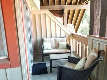 Large upstairs deck accessible from both bedrooms