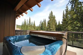 Private hot tub on one of two private balconies
