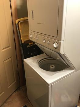Washer and dryer available in unit