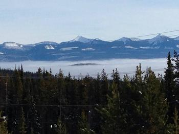 View from the house of monashee mountains