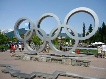Take your picture by the 2010 Olympic rings!