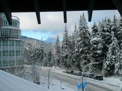 Winter view looking towards Whistler Mountain