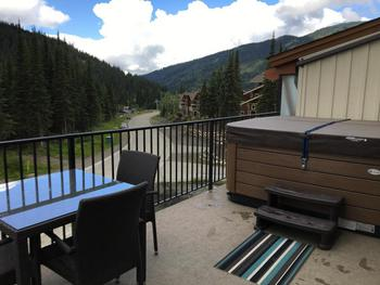 Private Hot Tub looking west to Orient Express and Morissey Chairlifts