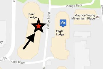 Centrally Located in Deer Lodge, Town Plaza in Whistler Village.