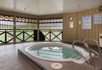 Open air hot tub - perfect for that soak after a long day of skiing, boarding, or biking!
