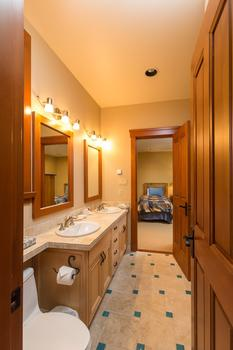 Lower bathroom shared with two bedrooms