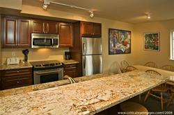 The Newly Renovated Kitchen with Granite Countertops