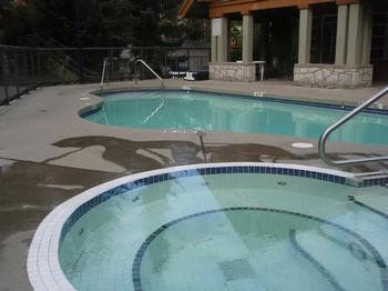 complex hot tub and pool. 10am-10pm