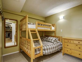2nd bedroom with tri bunk beds