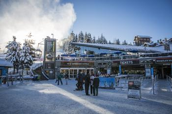 The Whistler gondola is located right next to the Carleton Lodge.