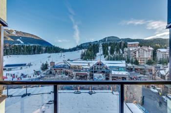 View of Whistler Gondola from balcony of unit 405.