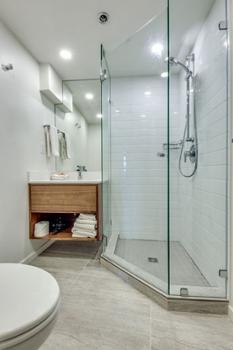 2nd bathroom with walk in shower.