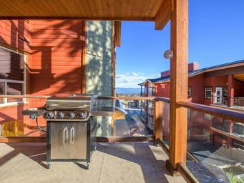 Private deck with BBQ and Hot Tub.