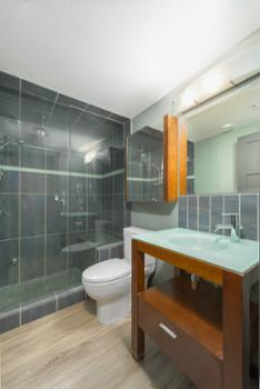 Master ensuite with built in steam shower and heated floors.