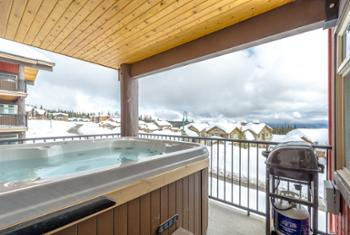 Enjoy the building pool for a relaxing dip after a long ski day.