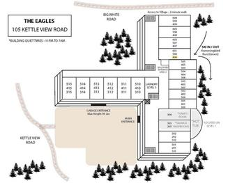 Map of Eagles Building and Condo location