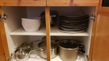 Some of the pots and pans, and large plates